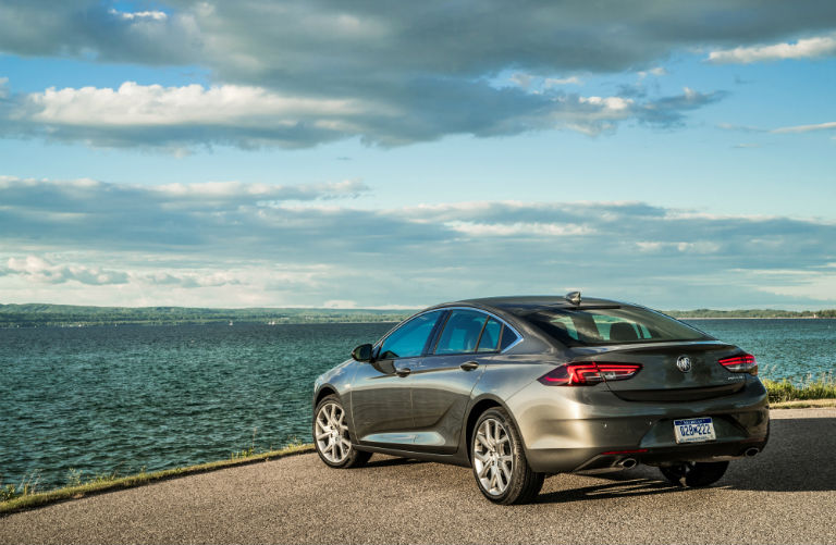 2019 Buick Regal Avenir parked looking out over water