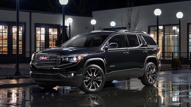 2019 GMC Acadia Black Edition parked in a building