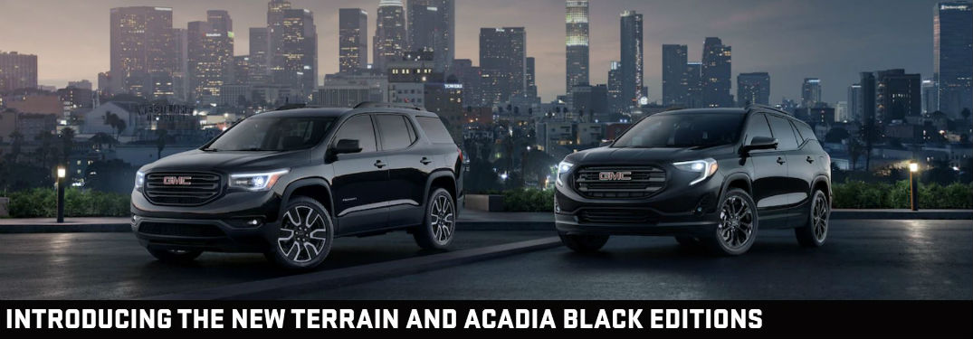 Be prepared to be blown away with the new GMC Black Editions!