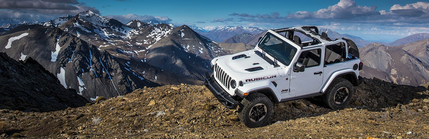 2019 Jeep Wrangler climbing rocky terrain