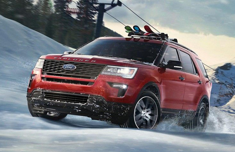 Red 2019 Ford Explorer
