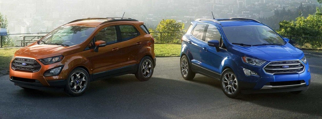 Orange 2019 Ford EcoSport and blue 2019 Ford EcoSport