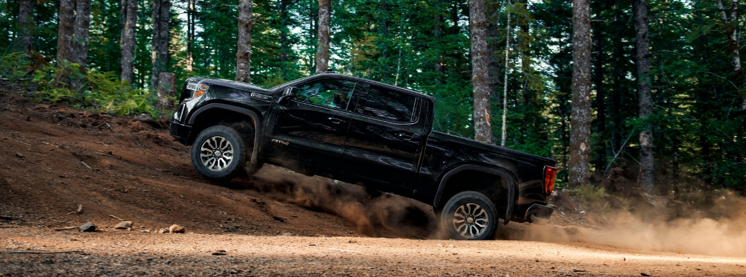 2019 GMC Sierra AT4 going up hill