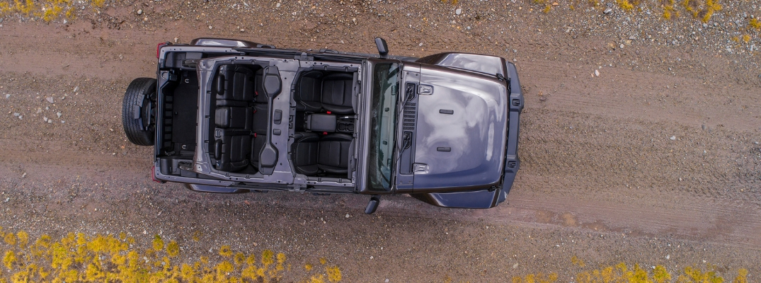 Overhead view of 2019 Jeep Wrangler