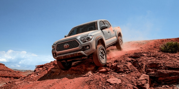 2019 Toyota Tacoma driving down hill