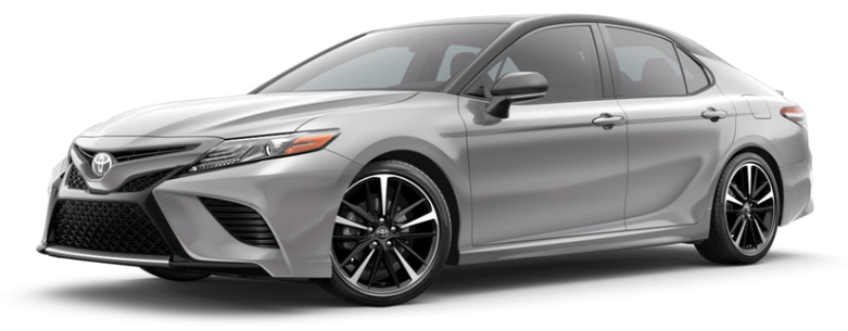 Celestial Silver Metallic with Midnight Black 2019 Toyota Camry
