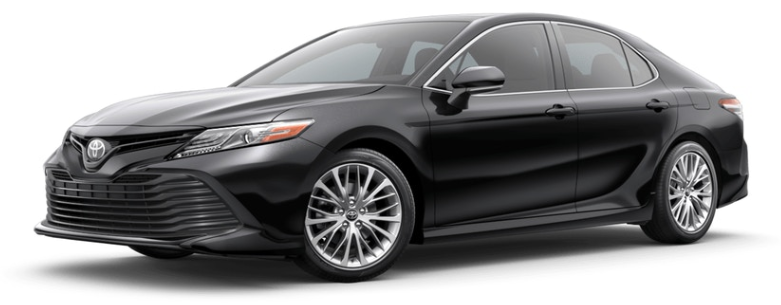 Midnight Black Metallic 2019 Toyota Camry