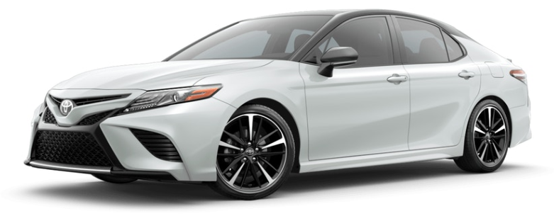 Wind Chill Pearl Mica with Midnight Black 2019 Toyota Camry