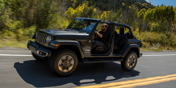 Grey 2019 Jeep Wrangler without doors