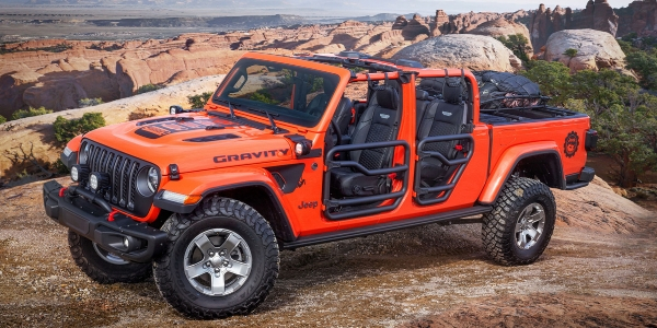 Orange Jeep Gladiator Gravity