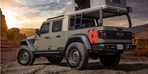 Tan Jeep Wayout rear