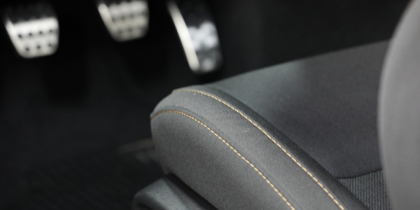 Closeup of driver's seat in Dodge Charger Stars & Stripes Edition