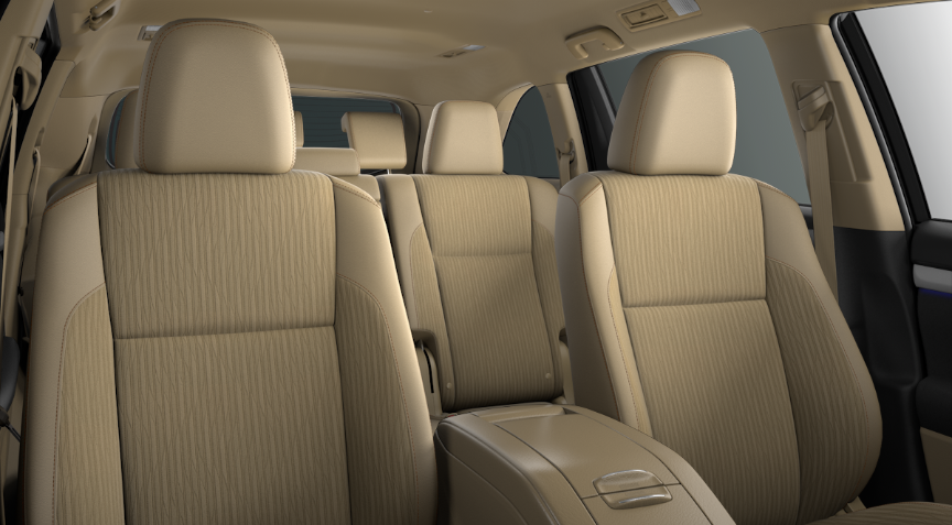 2019 Toyota Highlander Almond Fabric and Softex®
