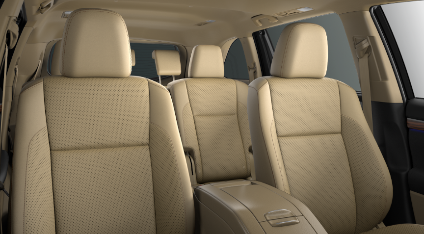 2019 Toyota Highlander Almond Perforated Leather interior