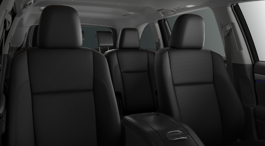 2019 Toyota Highlander Black Perforated Leather interior