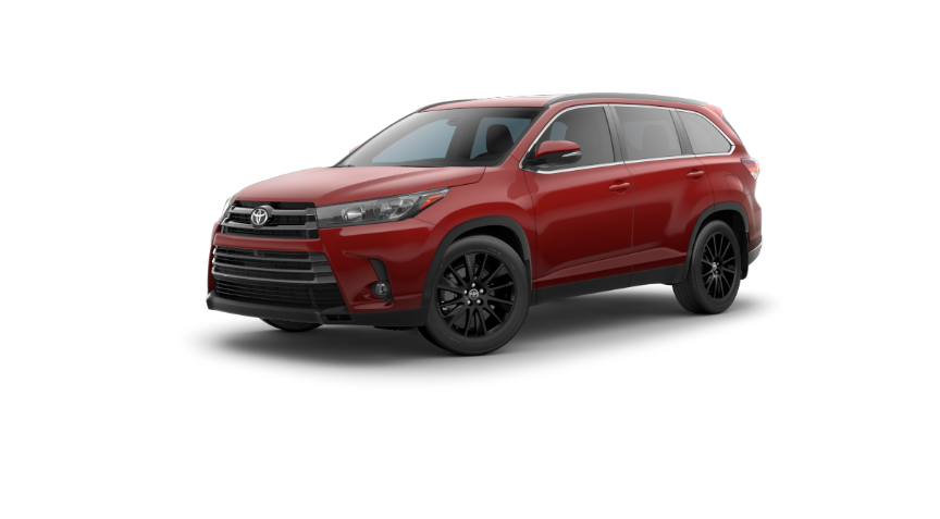 2019 Toyota Highlander in Salsa Red Pearl