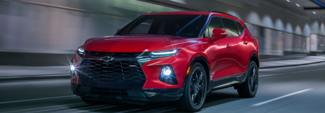 2019 Chevy Blazer driving on a road