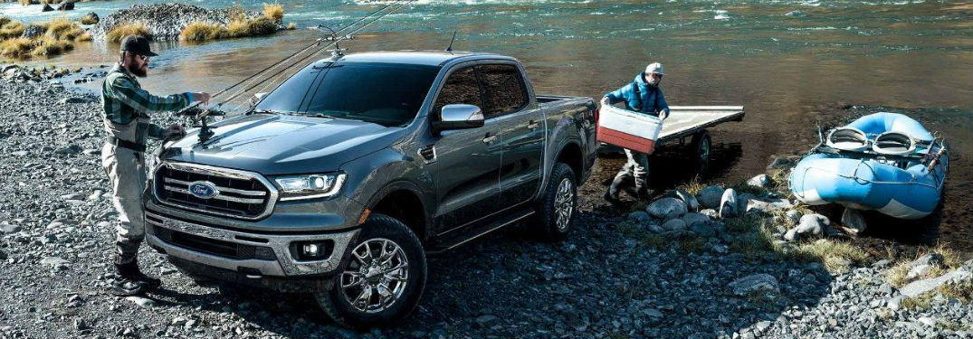 2019 Ford Ranger parked by water