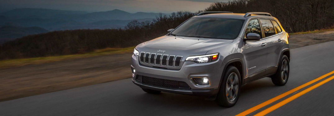 2019 Jeep Cherokee driving on a road