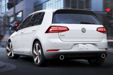2018 Volkswagen Golf GTI driving in the city