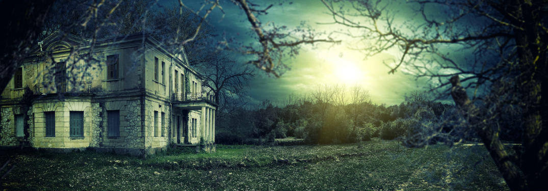 A haunted house in the woods