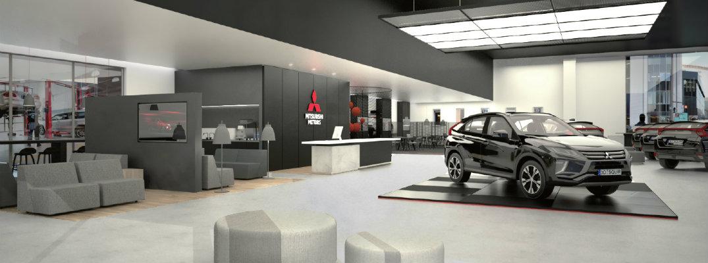 Redesigned Mitsubishi Dealership