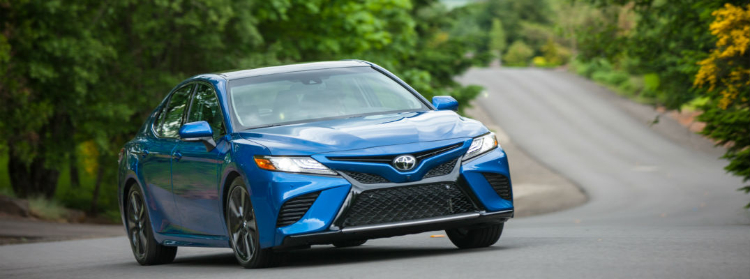 A front right quarter photo of a 2018 Toyota Camry.
