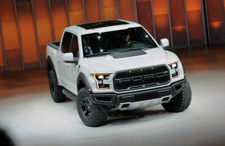 White 2017 Ford F 150 Raptor Revealed At North American