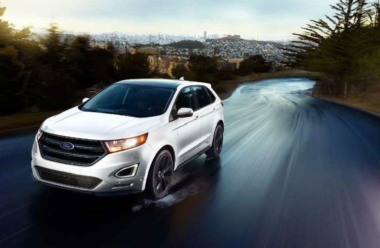Ford Edge Driving On Country Road