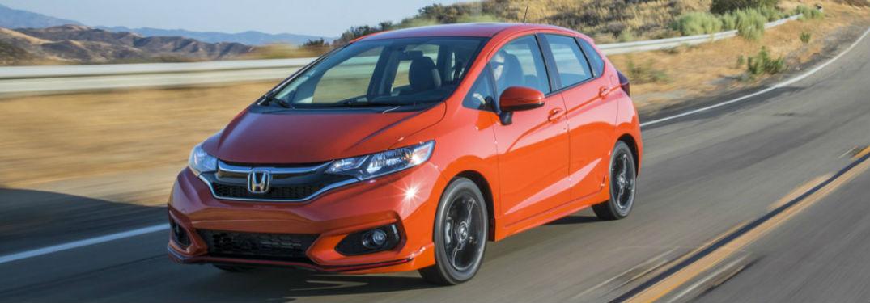 2019 Honda Fit in orange