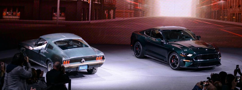 2019 Ford Mustang Bullitt Next to the 1968 Ford Mustang Bullitt