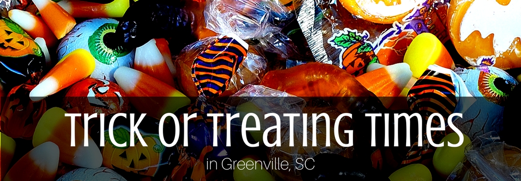 Trick or Treating Times greenville sc