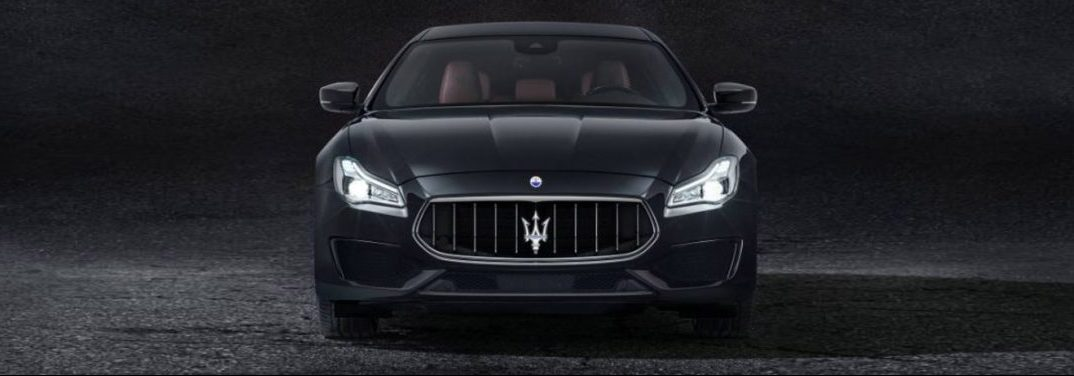 black 2018 Quattroporte on a dark background