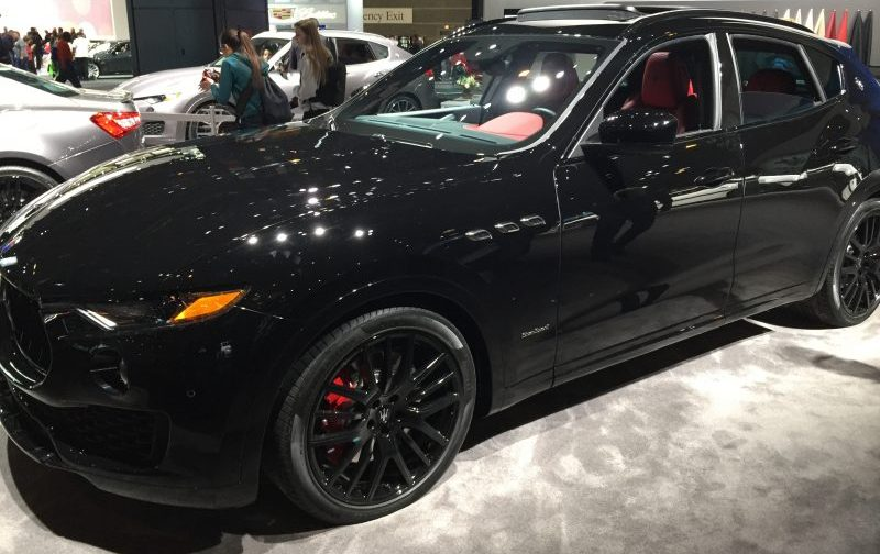 full view of the 2018 maserati levante at the Chicago Auto Show