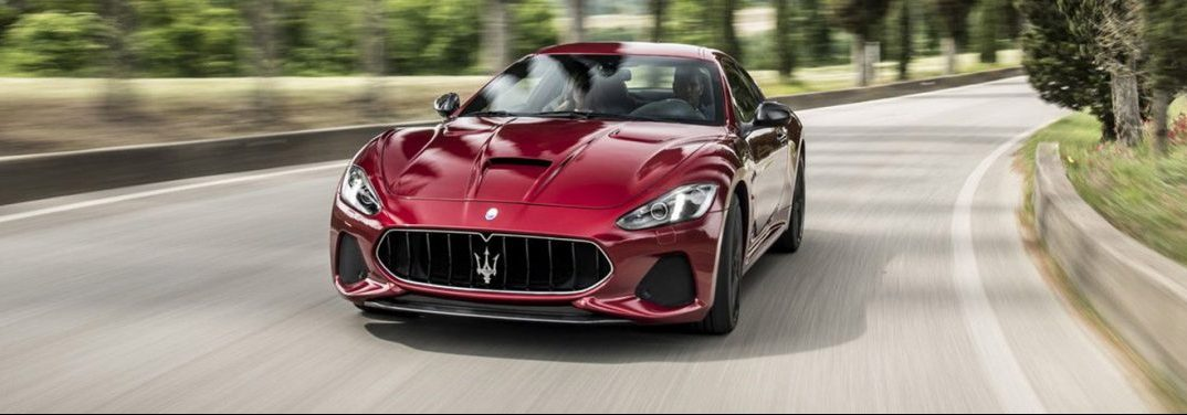 2018 Maserati GranTurismo exterior front in red