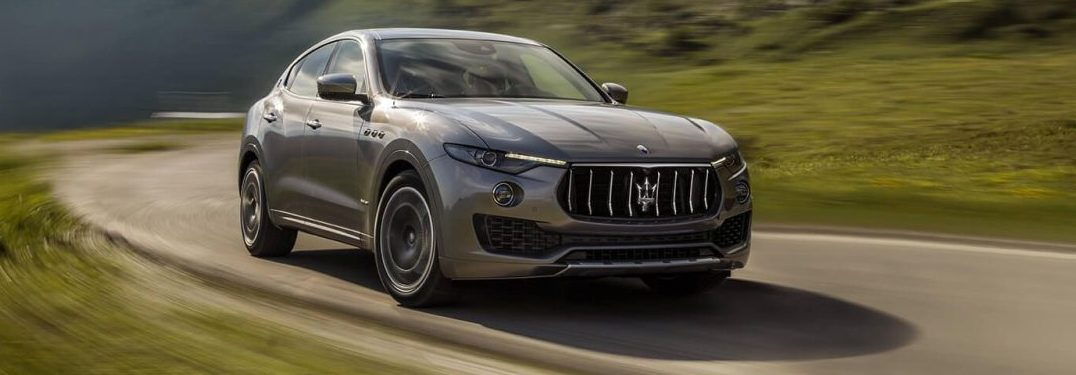 2018 Maserati Levante S driving in the country