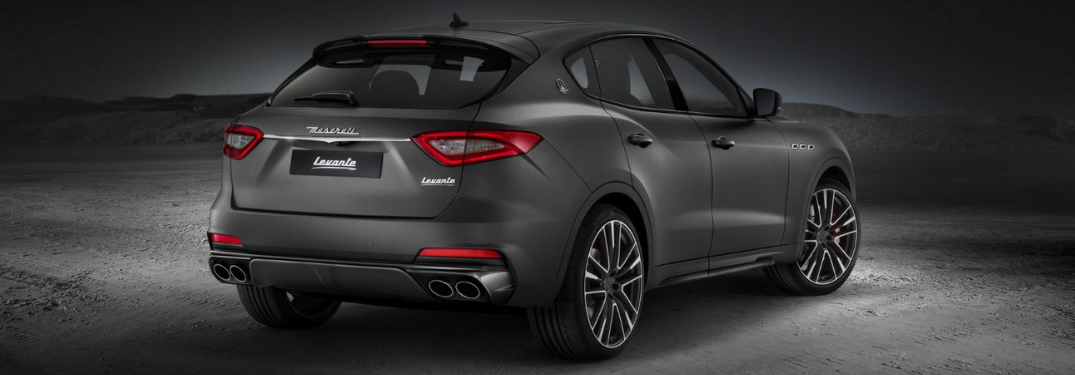 rear view of the 2019 Maserati levante