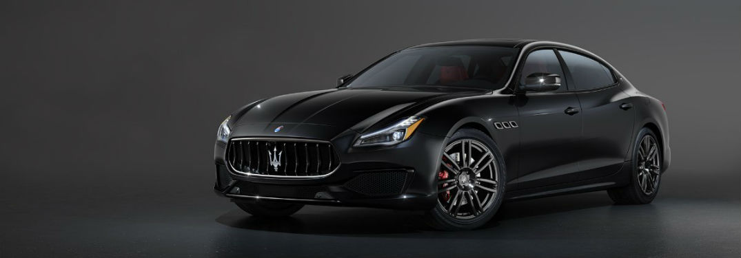 2020 Maserati Quattroporte exterior front fascia driver side black background