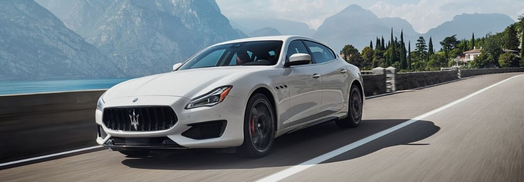 2020 Maserati Quattroporte exterior front fascia driver side on highway