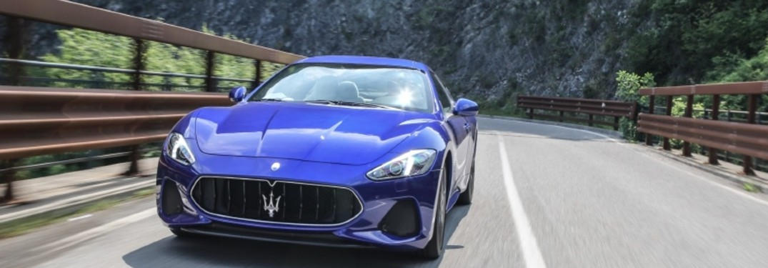 2020 Maserati GranTurismo driving on a road