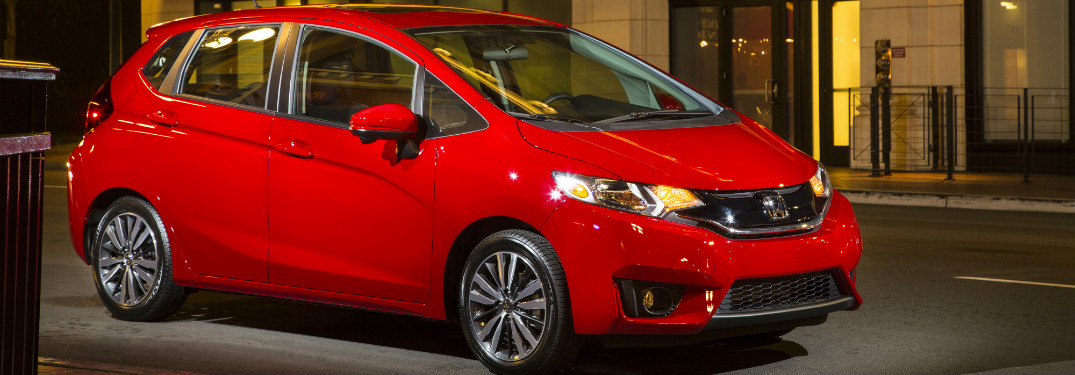 Honda Fit in Red Side View