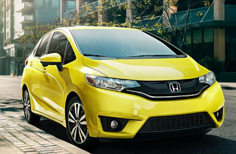 2018 Honda Fit Exterior View in Yellow