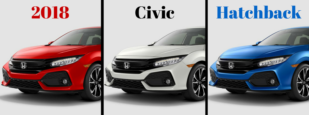 2018 Honda Civic Hatchback Color Options Banner