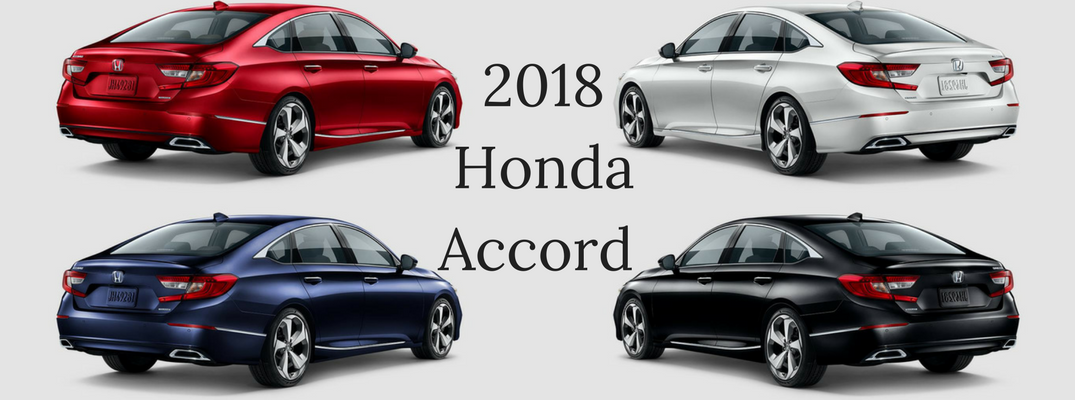2018 Honda Accord Color Options Banner with Red, White, Blue, and Black Paints