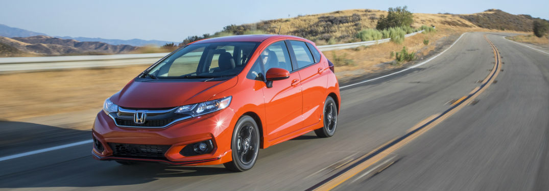 2019 Honda Fit in Orange Front Side View
