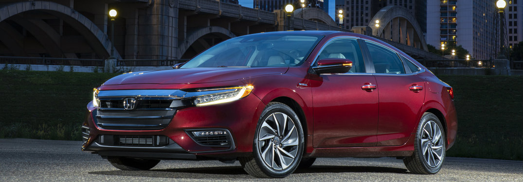 2019 Honda Insight in Red Front Side View
