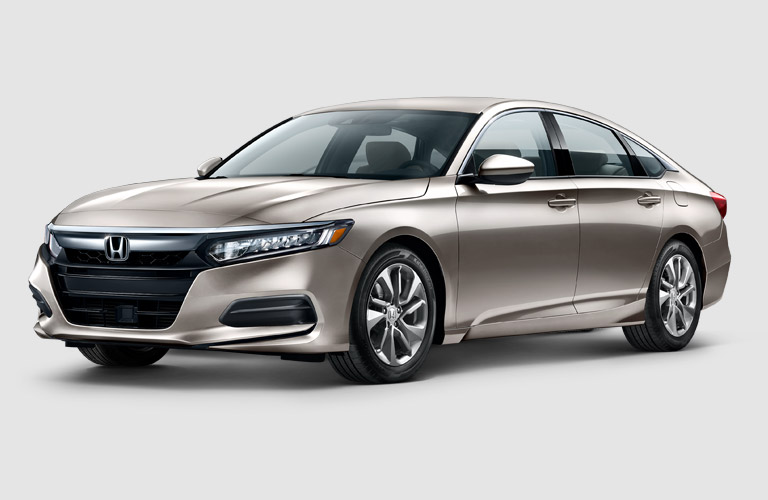 silver 2018 Honda Accord with plain white background