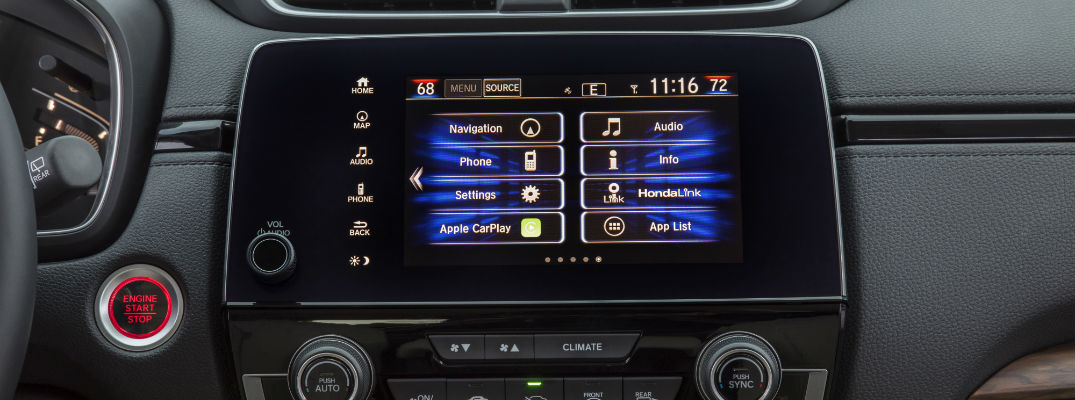 A photo of the options menu displayed on the touchscreen of the 2019 Honda CR-V.