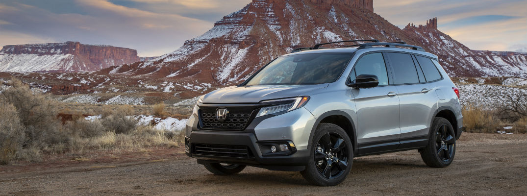 A front left quarter photo of the 2020 Honda Passport.