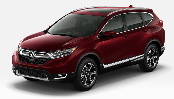 A photo of the 2019 Honda CR-V in Basque Red Pearl II.